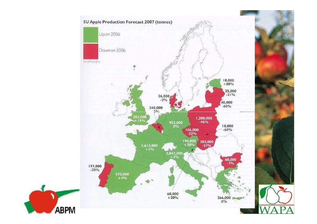 EU 27      PRINCIPAIS PAISES FORNECEDORES DE MAÇÃS 2008 ( %)                    Outros 3%        China 4%                 ...