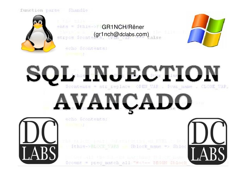 Palestra sql injection oficial