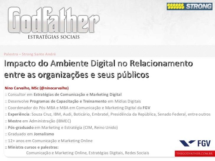 Nino Carvalho, MSc (@ninocarvalho) :: Consultor em  Estratégias de Comunicação e Marketing Digital :: Desenvolve  Programa...