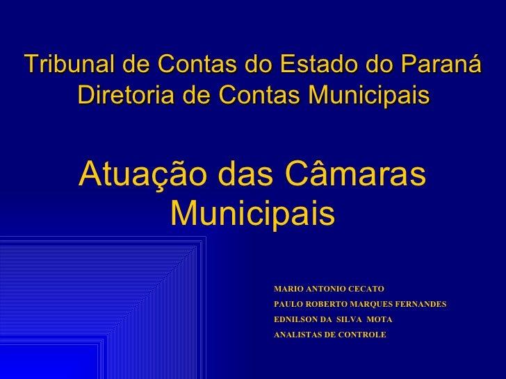 Palestra tribunal de contas do paraná   18-05-2010