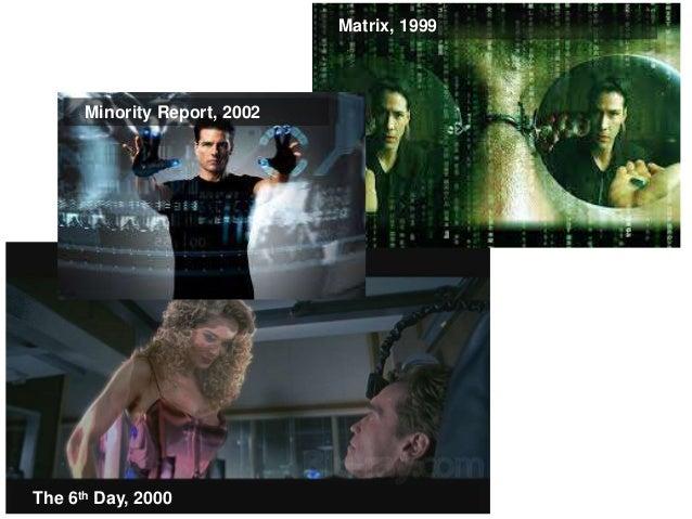 The 6th Day, 2000  Matrix, 1999  Minority Report, 2002