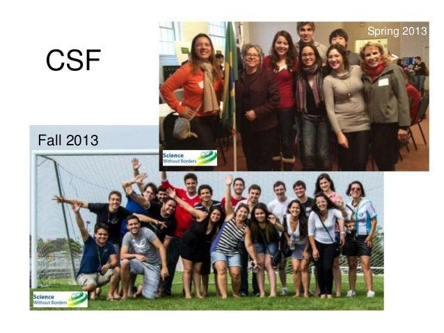 Fall 2013  Spring 2013  CSF