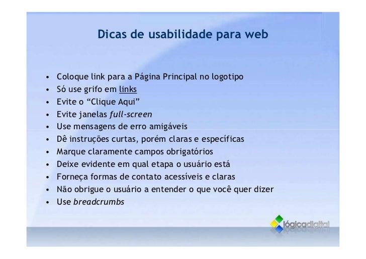 O que é Usabilidade - Conceitos gerais
