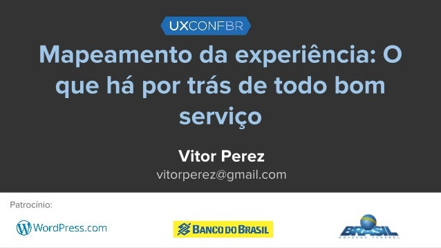 Vitor Perez Designer de Serviço da Kyvo, líder local do IxDA Curitiba, associado à Service Design Network e empreendedor c...