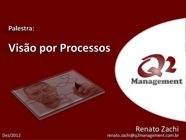 Renato ZachiDez/2012   renato.zachi@q2management.com.br
