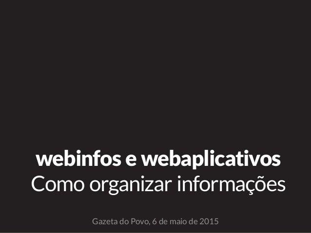 webinfos e webaplicativos Como organizar informações Gazeta do Povo, 6 de maio de 2015