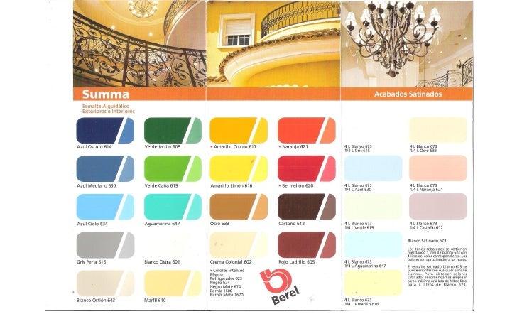 Paleta de colores berel for Catalogo de colores de pinturas