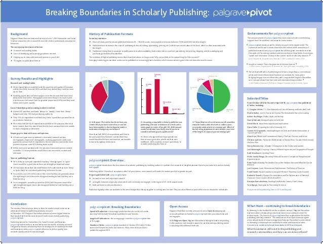BackgroundPalgrave Macmillan commissioned surveys of over 1,200 Humanities and SocialSciences researchers from around the ...