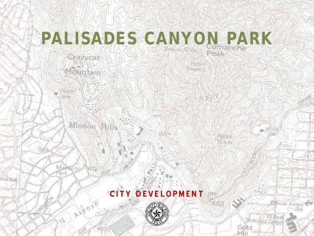 PALISADES CANYON PARK  CITY DEVELOPMENT