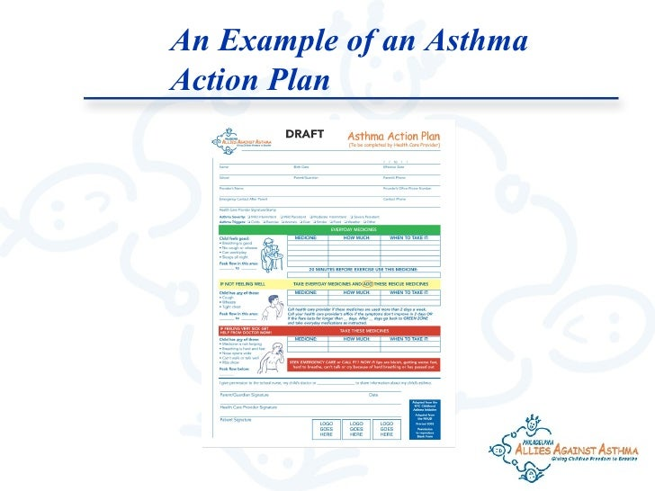 Asthma 101 – Sample Asthma Action Plan