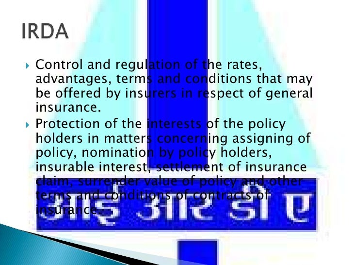 Control and regulation of the rates, advantages, terms and conditions that may be offered by insurers in respect of genera...