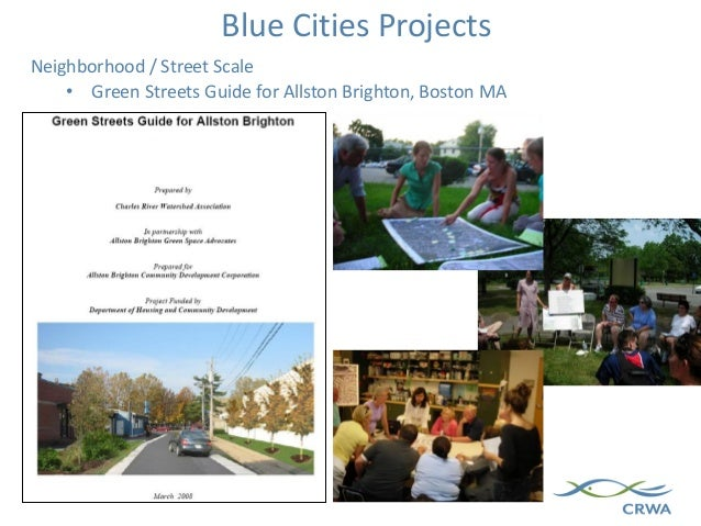 Neighborhood / Street Scale • Green Streets Guide for Allston Brighton, Boston MA Blue Cities Projects