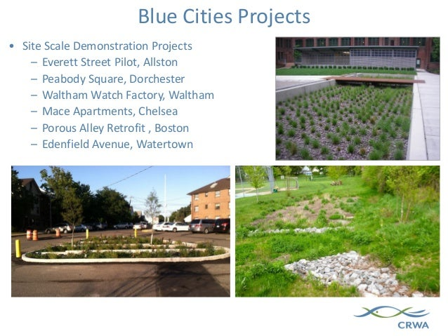 Blue Cities Projects • Site Scale Demonstration Projects – Everett Street Pilot, Allston – Peabody Square, Dorchester – Wa...