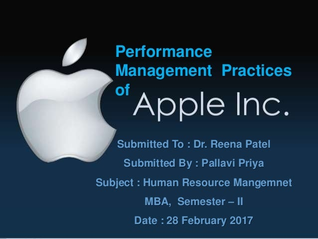 human resource management and apple inc