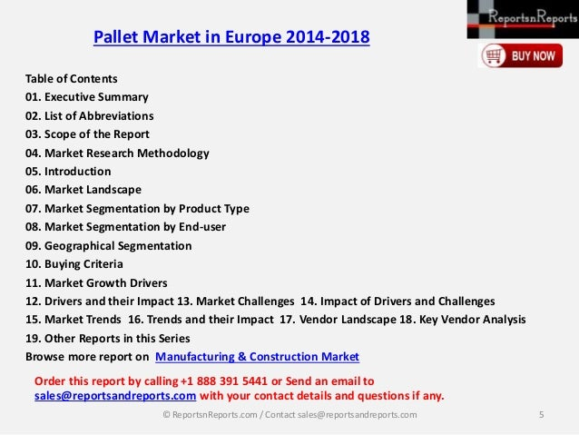 pallet market in europe 2014 2018 From feb-2014 publication  pallet demand by product & market eastern europe: pallet supply & demand  world pallets world pallets $6,10000.
