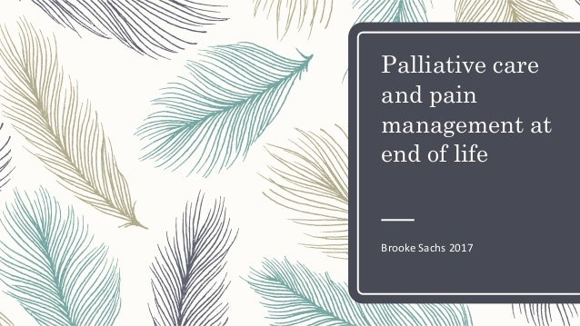 Palliative care and pain management at end of life Brooke Sachs 2017