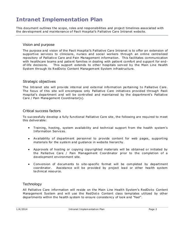 Paoli Hospital Palliative Care Proposal