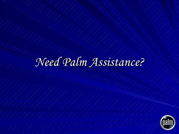 Need Palm Assistance?