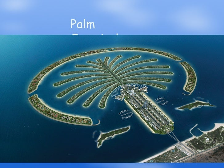 Palm Island Dubai World Map