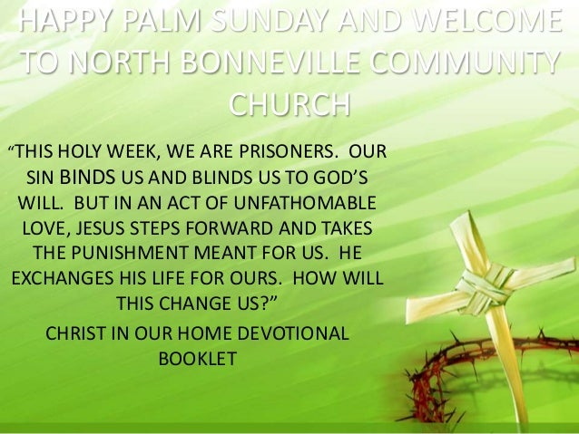 Palm Sunday-template