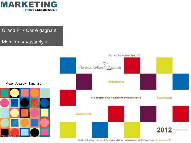 Grand Prix Carré gagnantMention « Vasarely » Victor Vasarely, Sans titre