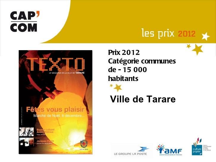Palmares prix de la presse territoriale 2012 for Piscine de tarare