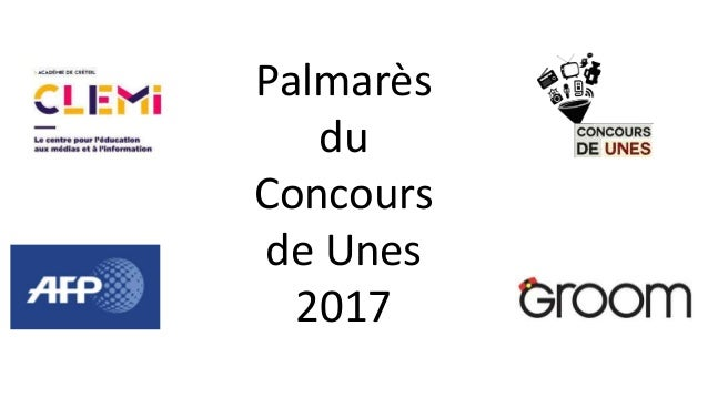 Palmarès du Concours de Unes 2017