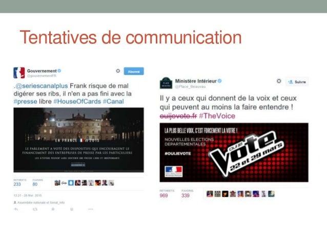 Medias vs Réseaux Sociaux Bleu : médias Rouge : Twitter/Facebook