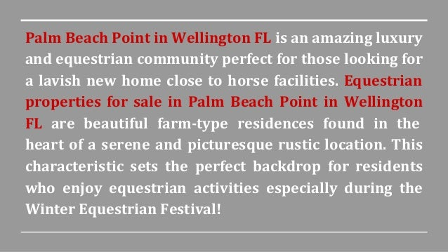 Palm beach point in wellington fl equestrian homes for for Palm beach home for sale