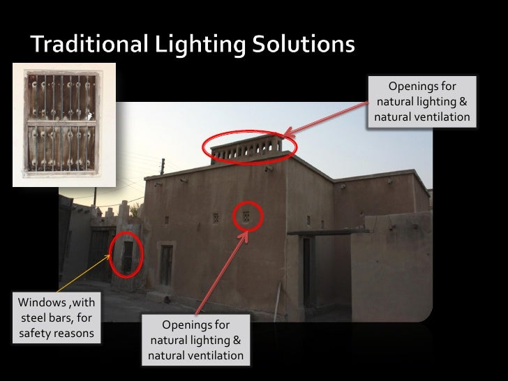 Openings for                                        natural lighting &                                        natural vent...