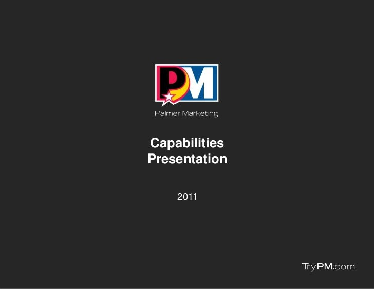 CapabilitiesPresentation    2011