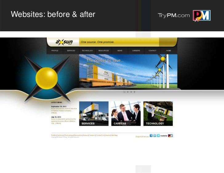 Websites: before & after