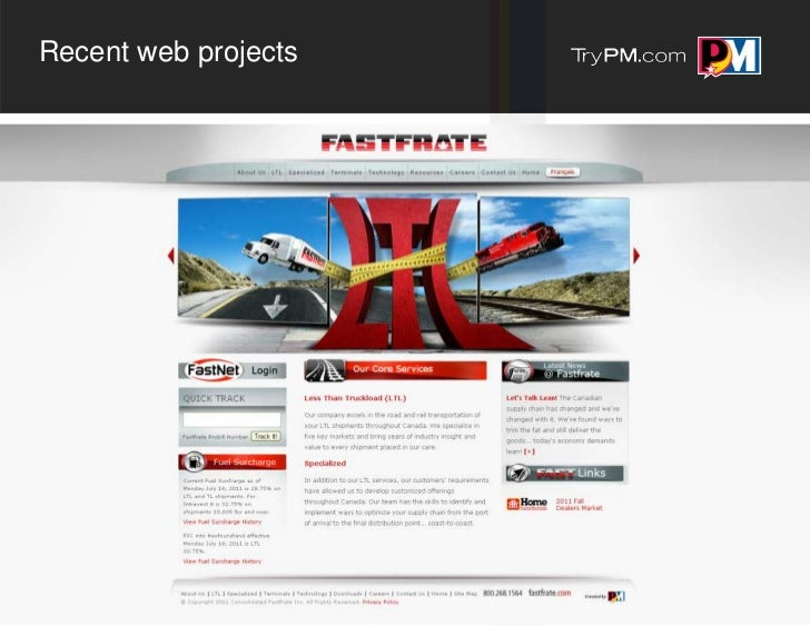 Recent web projects