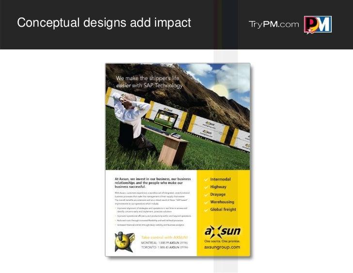 Conceptual designs add impact