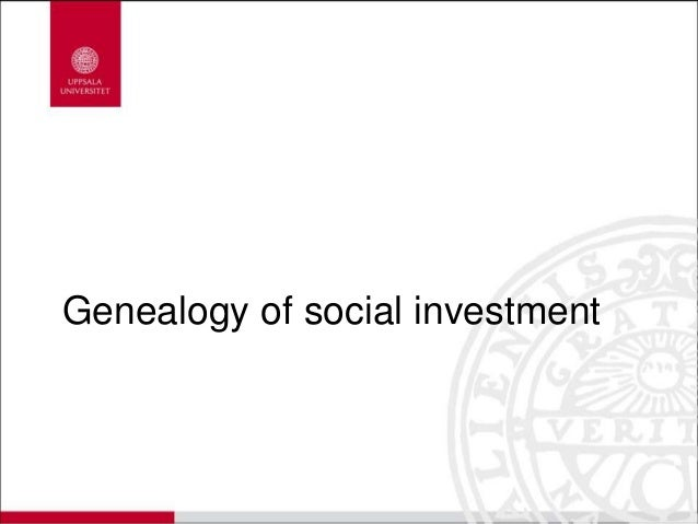 Genealogy of social investment
