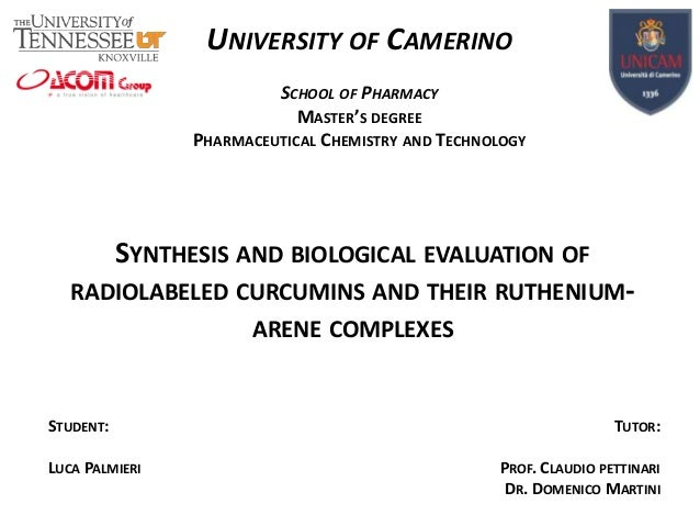 UNIVERSITY OF CAMERINO SCHOOL OF PHARMACY MASTER'S DEGREE PHARMACEUTICAL CHEMISTRY AND TECHNOLOGY  SYNTHESIS AND BIOLOGICA...