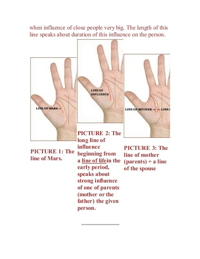 Palmistry from russia 'the line of influence'!