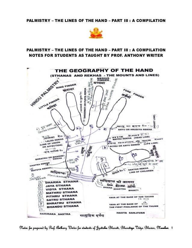 Palmistry – the lines of the hand – part iii a compilation