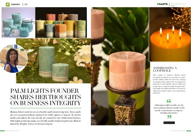 Palm Lights founder shares herthoughts on business integrity Bhawna Sehra's search for an eco-friendly candle lasted a lon...