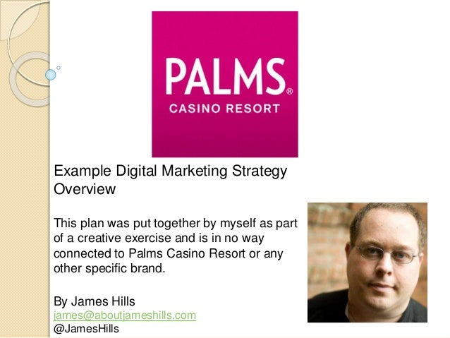 Example Digital Marketing Strategy Overview This plan was put together by myself as part of a creative exercise and is in ...