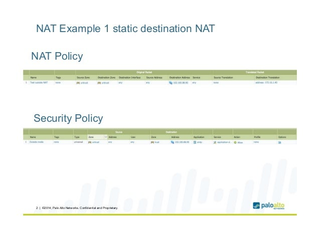 Palo alto networks NAT flow logic