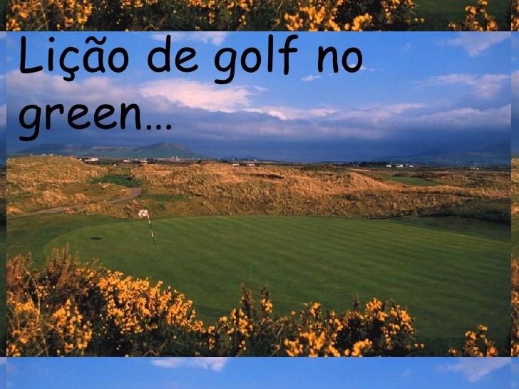 Lição de golf no green…