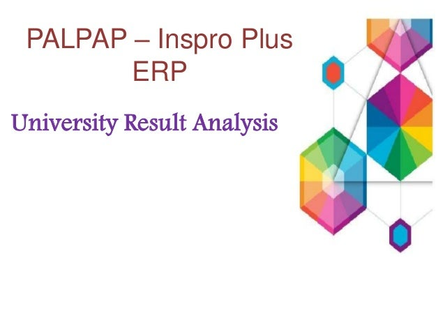 PALPAP – Inspro Plus ERP University Result Analysis