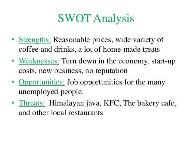 Swot analysis for custom coffee