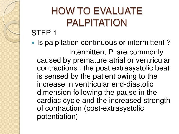 palpitations, Skeleton