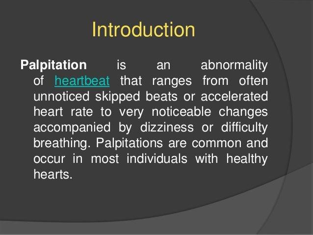 Palpitations treatment ppt
