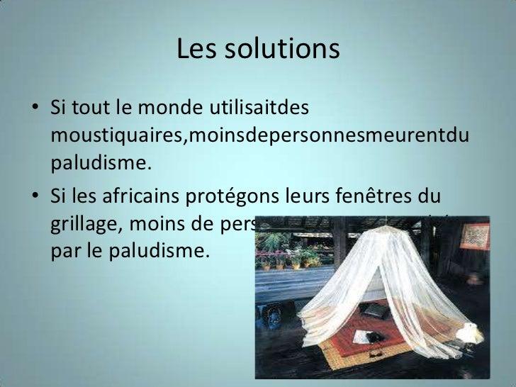 Le Paludisme Slide 3