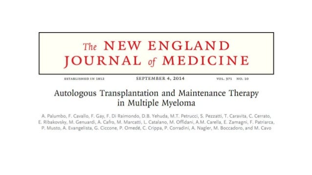 Palumbo auto hsct in multiple myeloma n engl j med 2014