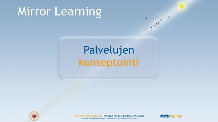 Mirror Learning               Palvelujen              konseptointi          You know what works best - We help you see and...