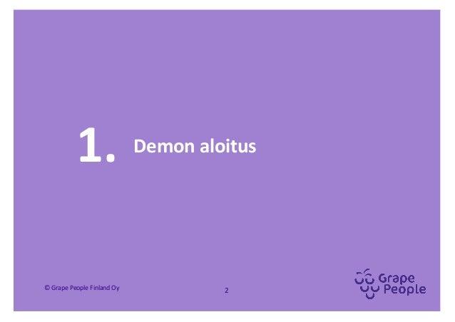 """""""Palvelumuotoilua osallistavasti"""" -demo Slide 2"""